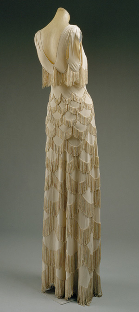 Evening dress, spring/summer 1938 Madeleine Vionnet (French, 18761975) Rayon   Madeleine Vionnet: Evening dress (C.I.52.18.4) | Heilbrunn Timeline of Art History | The Metropolitan Museum of Art