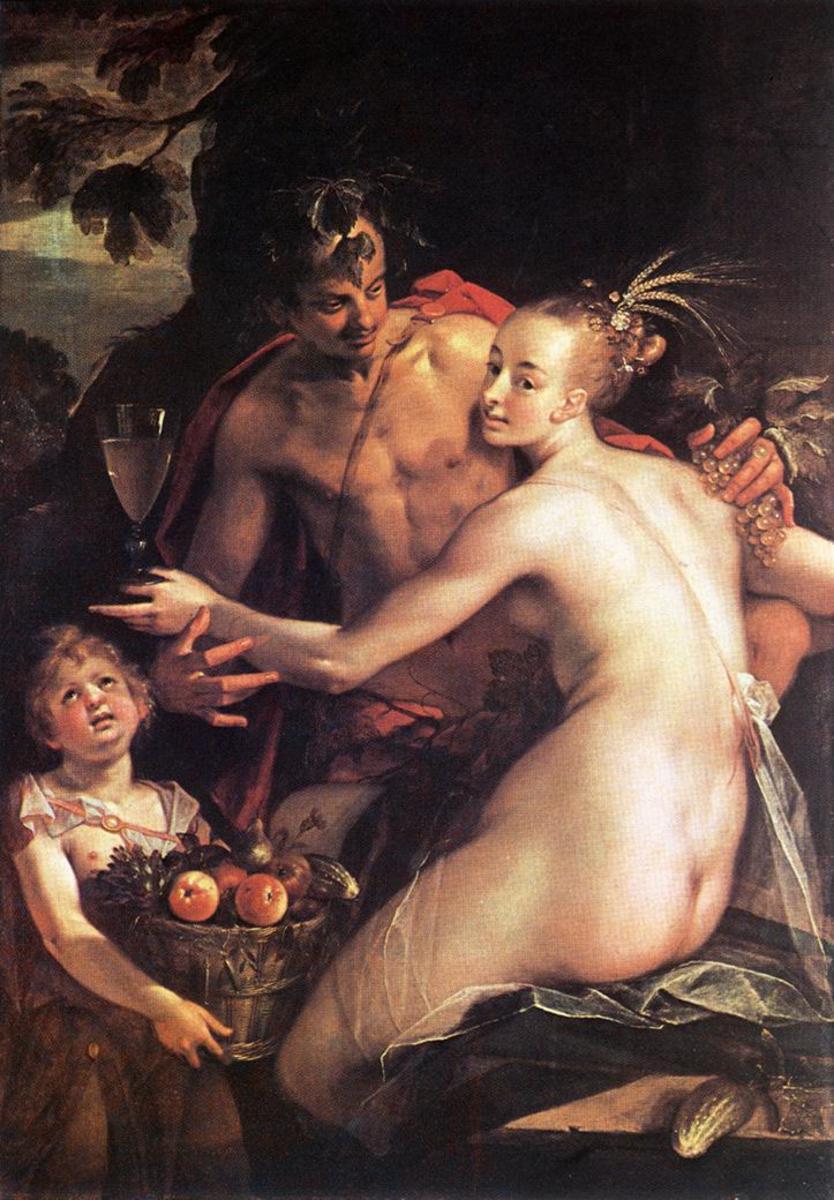 Bacchus, Ceres and Cupid - Hans Von Aachen
