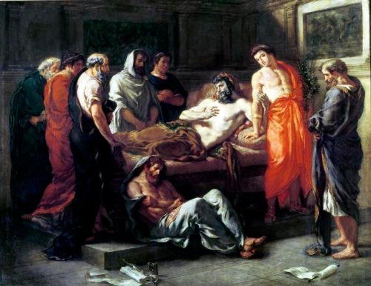 Death of Marcus Aurelius- Ferdinand Victor Eugene