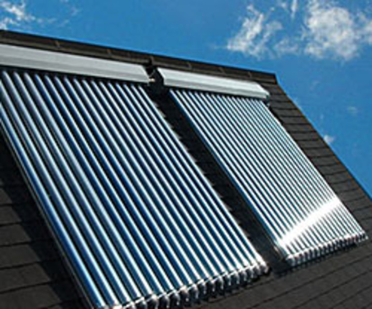 Solar thermal panels for free hot water