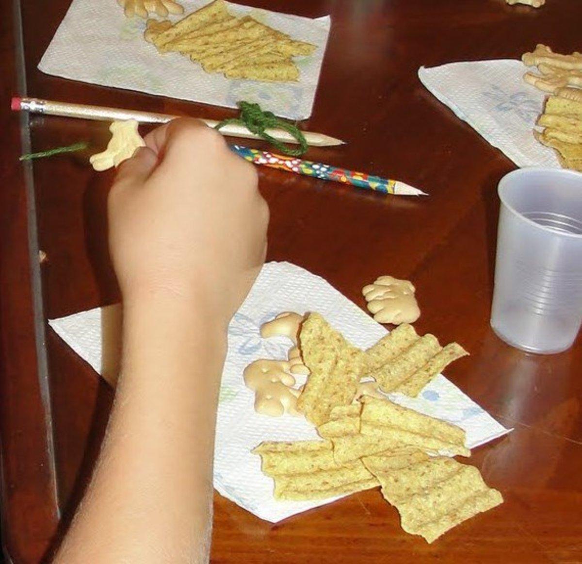 Eating noisy snacks
