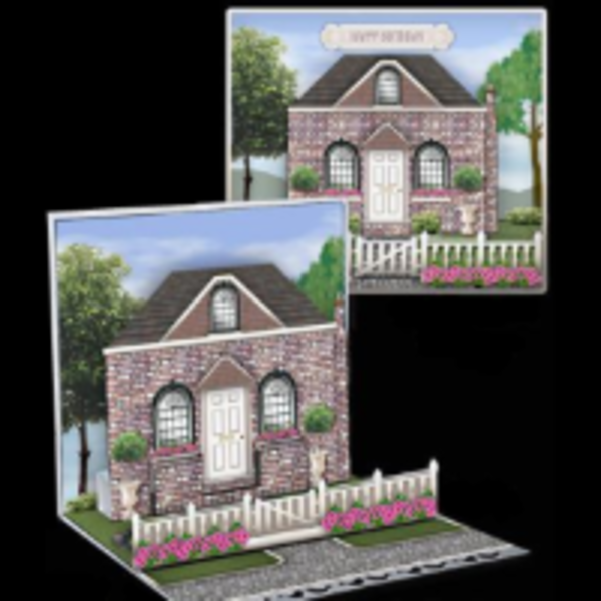 Printable Buildings Pop Up Cards