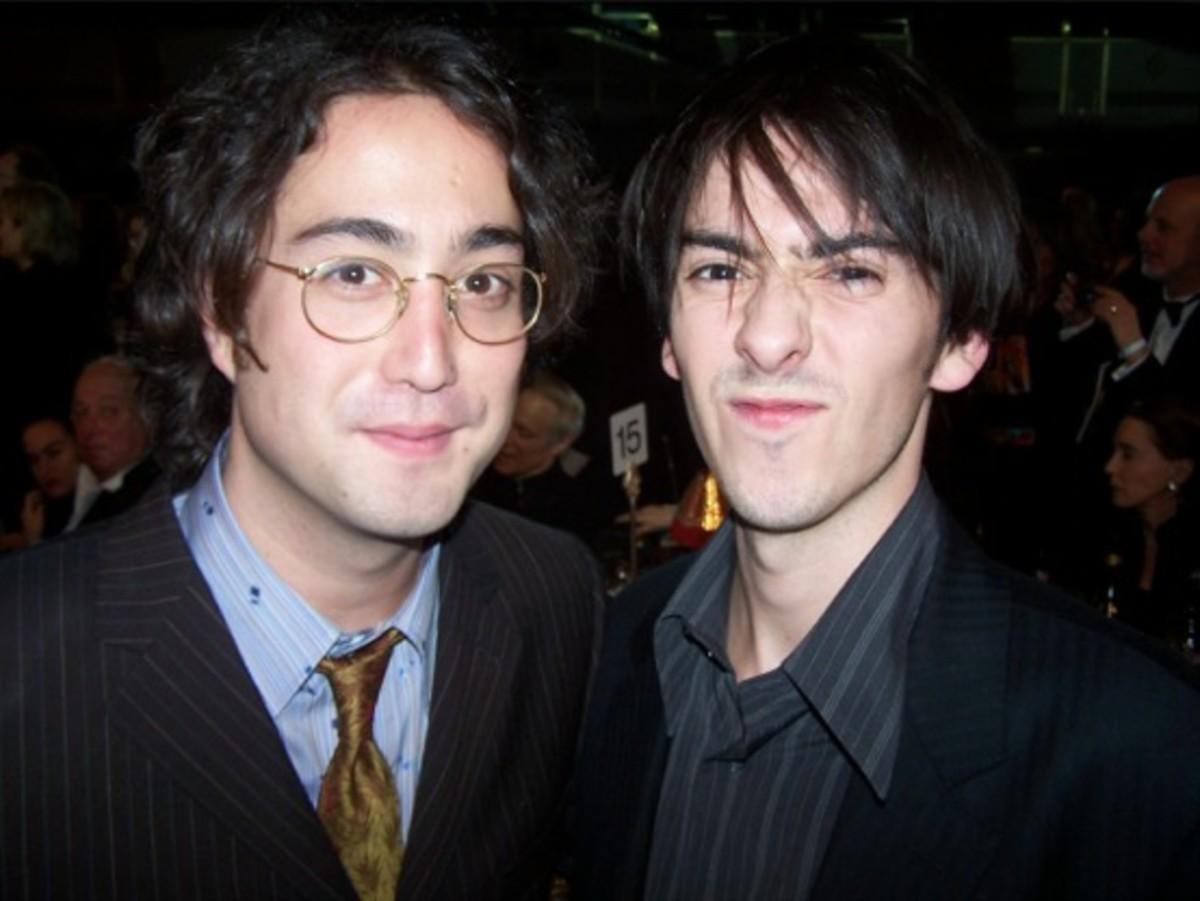 I thought this was a very nice picture of Sean Lennon and Dhani Harrison of course sons of John and George...The resemblance is amazing.
