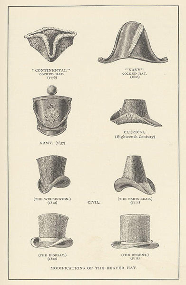Historic beaver hat styles.