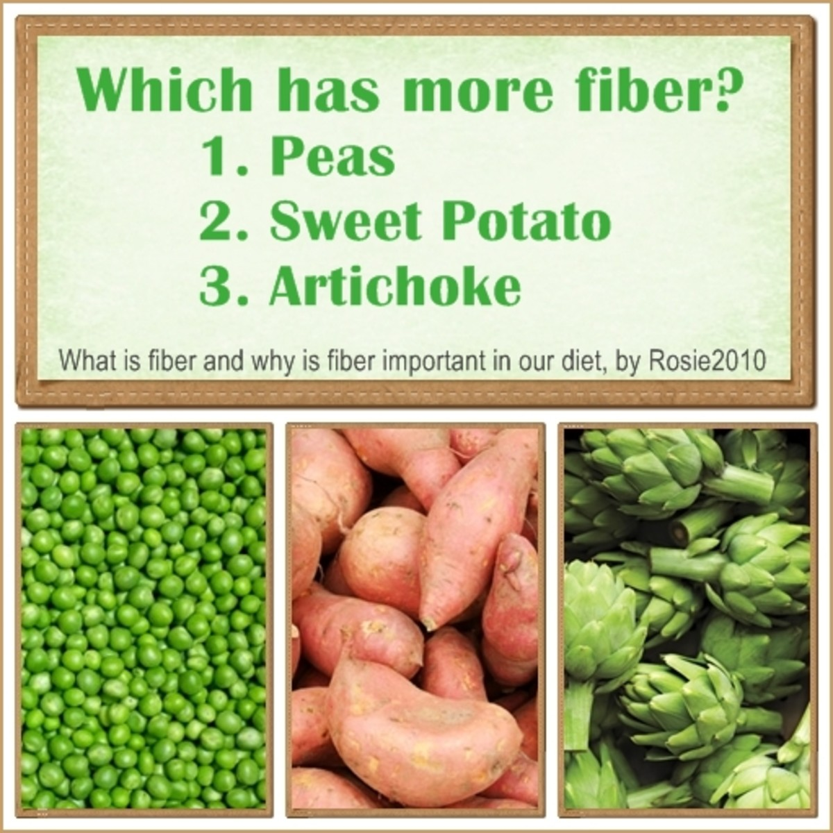 What is Fiber and Why is Fiber Important in our Diet, by Rosie2010 - Answer:  #3 Artichoke