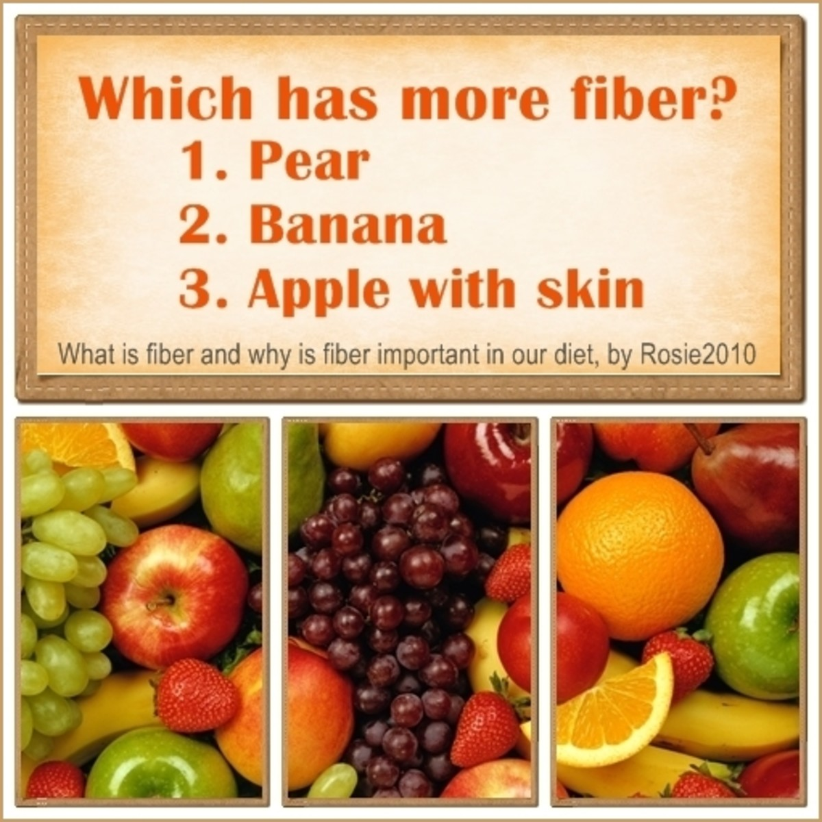 What is Fiber and Why is Fiber Important in our Diet, by Rosie2010 - Answer:  #3 Apple with skin