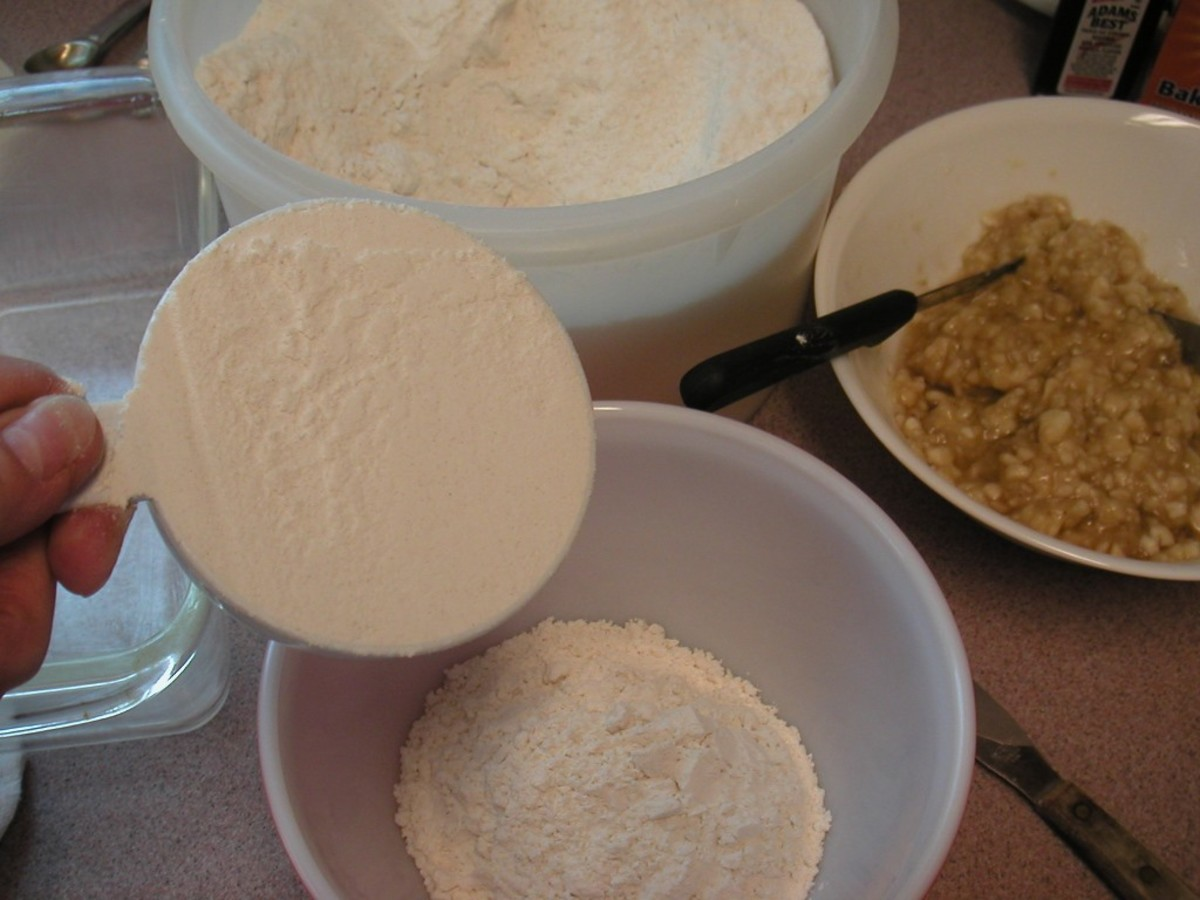 Measure the flour using a dry measuring cup. Level off the top with a regular knife.