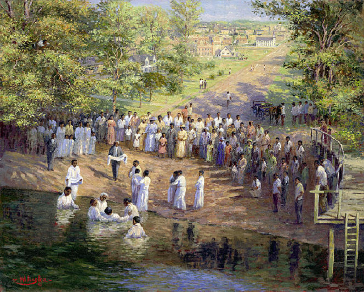AFRICAN AMERICANS COME TO BE BAPTISED