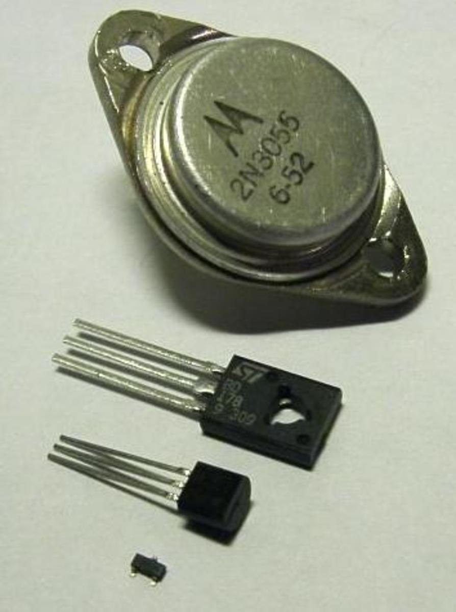 Progression of Transistors (TO-3, T0-126, TO-92, SOT-23