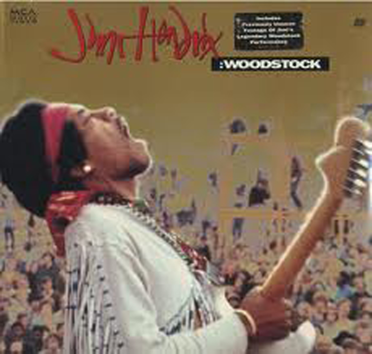 Famous shot of Jimi Hendrix, Woodstock, August 1969
