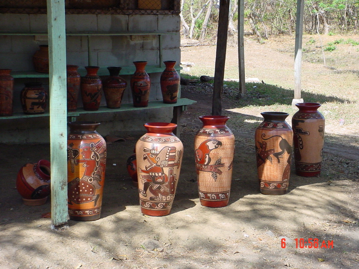 Pottery of the local Choretega people at Guatil near Nosara on the Nosara Penninsual in Guanacaste.