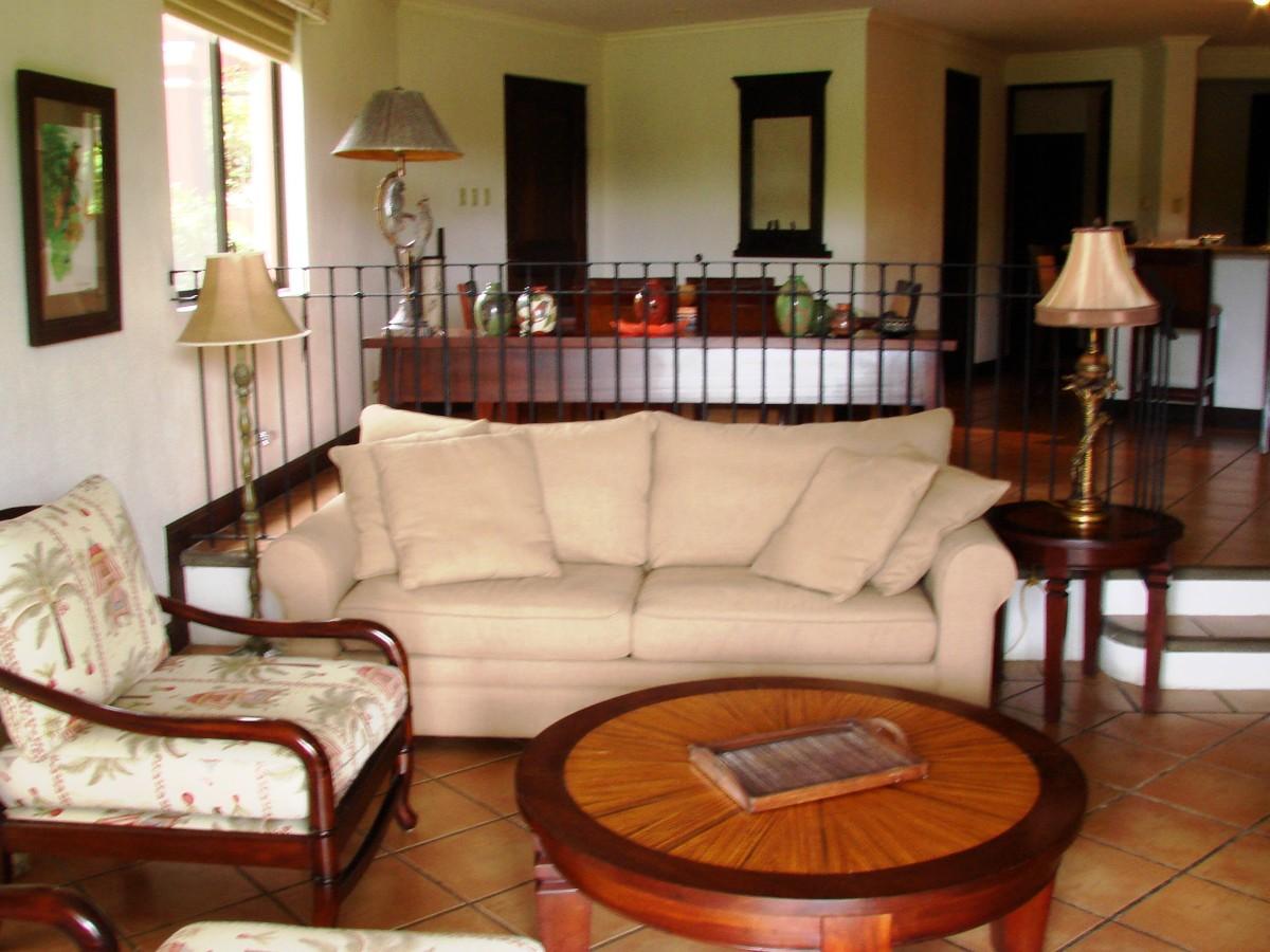 Living Room of a Condo Rental Unit.