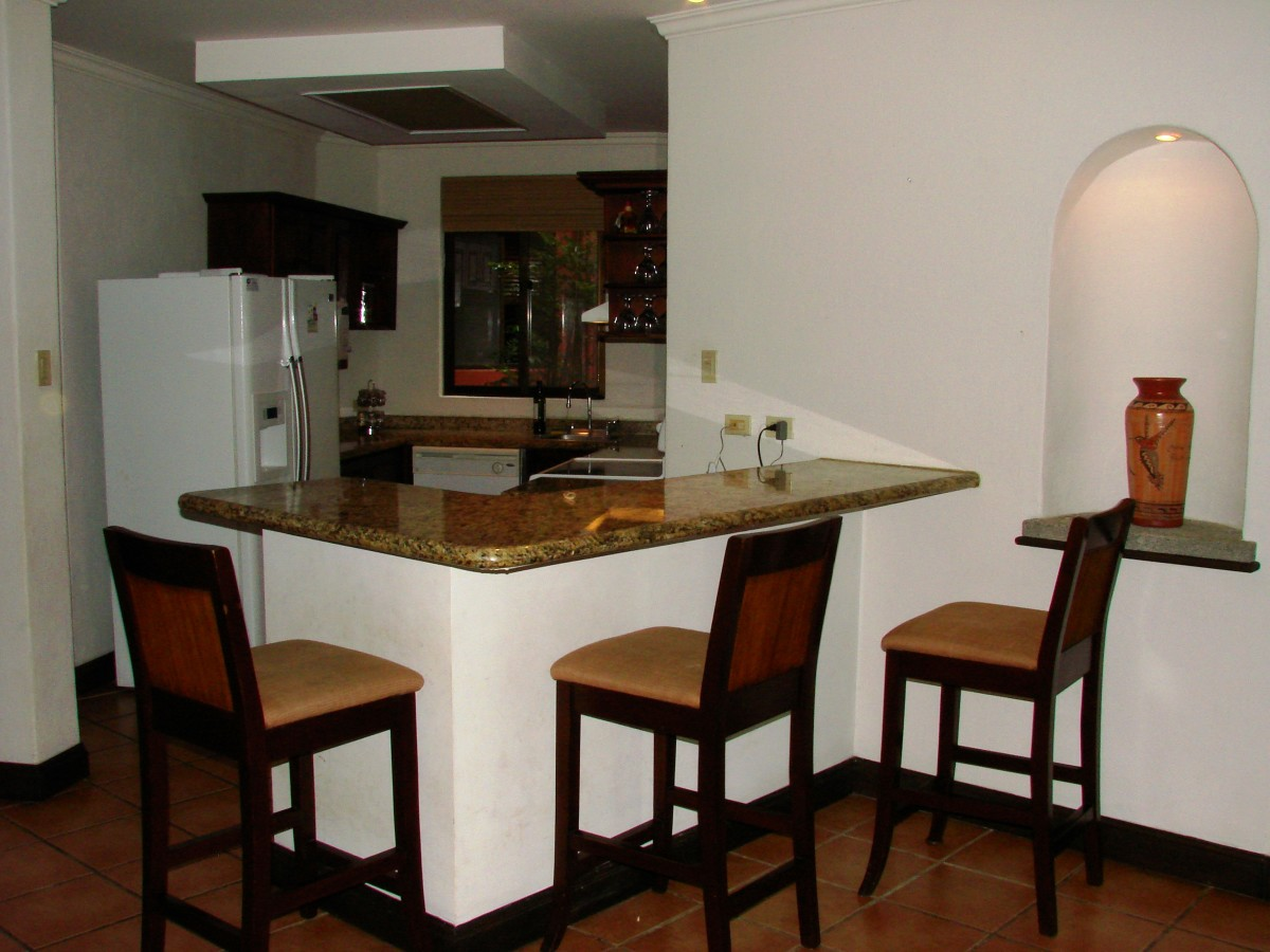 Bar and Kitchen area of a rental unit