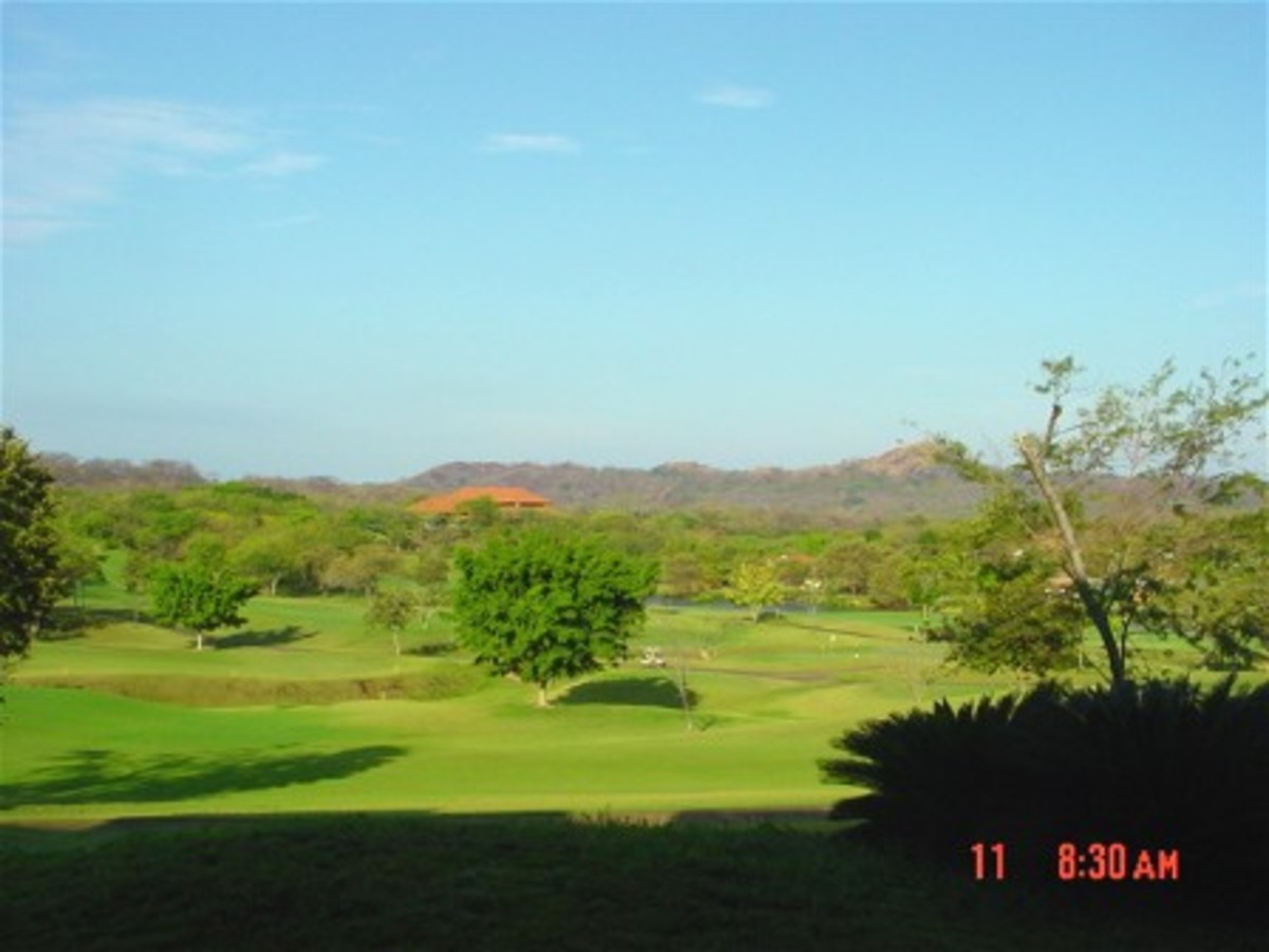 Golf course view at Reserva Conchal