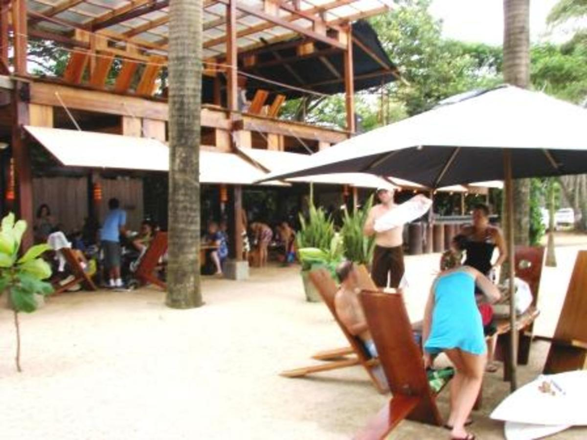 Lola's a Fabulous Beach Front Restaurant in Playa Avellanas, south of Tamarnido