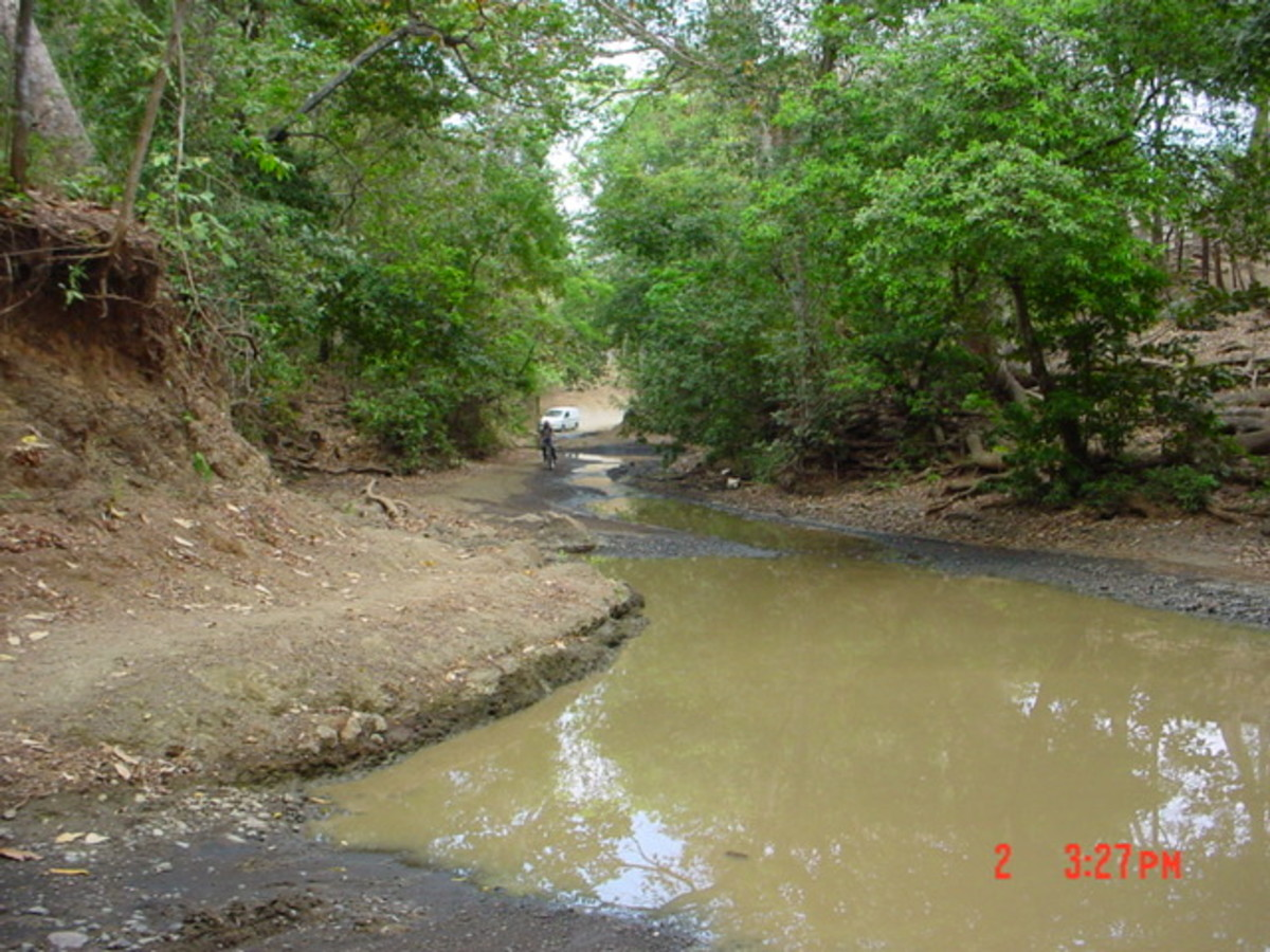 Just Kidding, Sort Of,  but if you decide to venture off the main roads during rainy season you may very will find that the road and the creek bed got confused.  We drove on through without a problem.