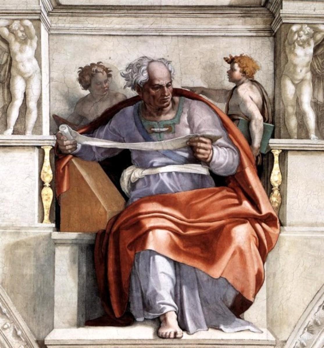 The Prophet Joel, Michelangelo Buonarroti (1475-1564)