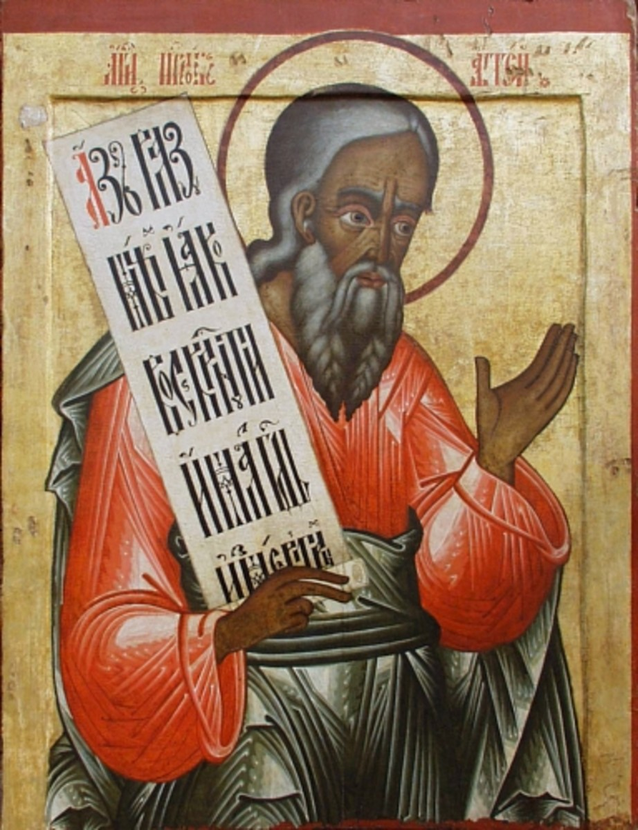 The Prophet Haggai, Russian Icon from First Quarter of 18th century