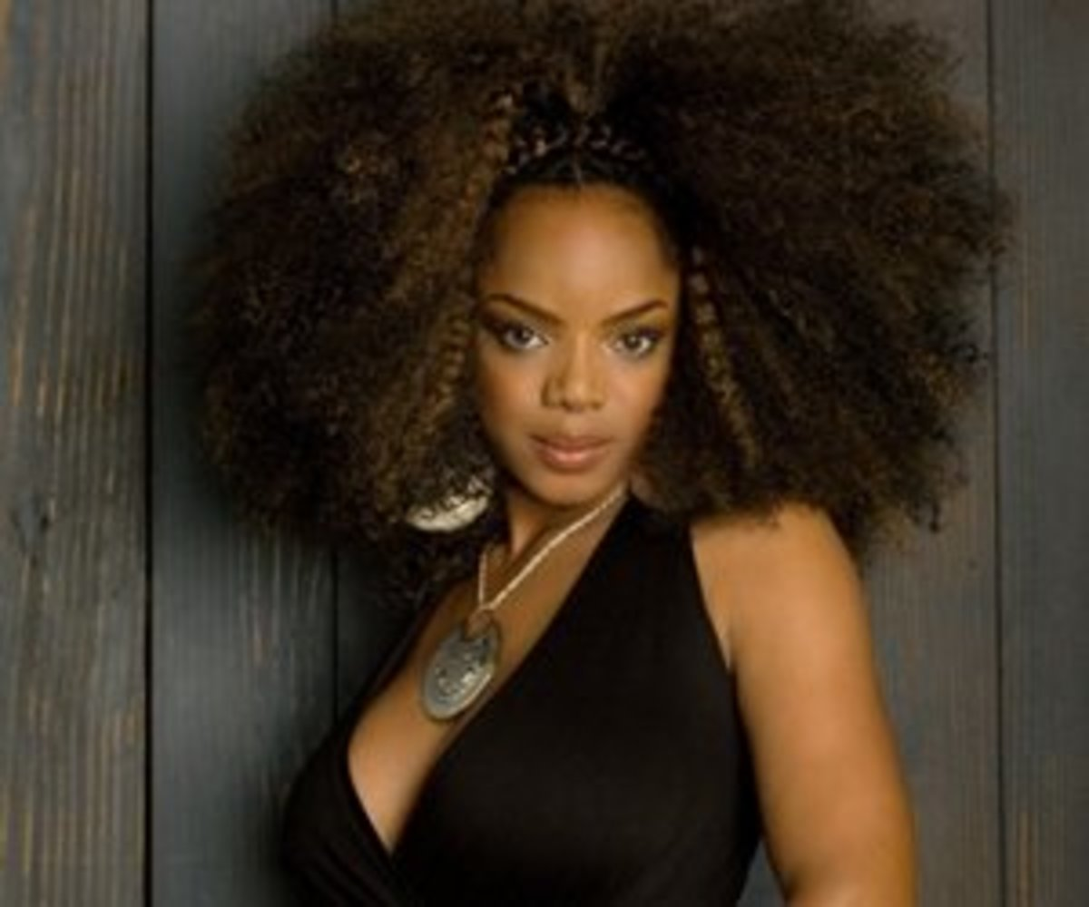 Famous Black African American Female Singers with Natural