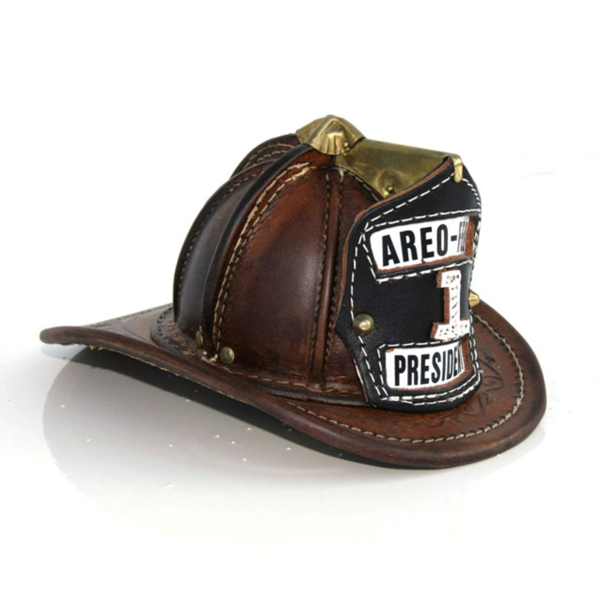 One of the original style leather helmets