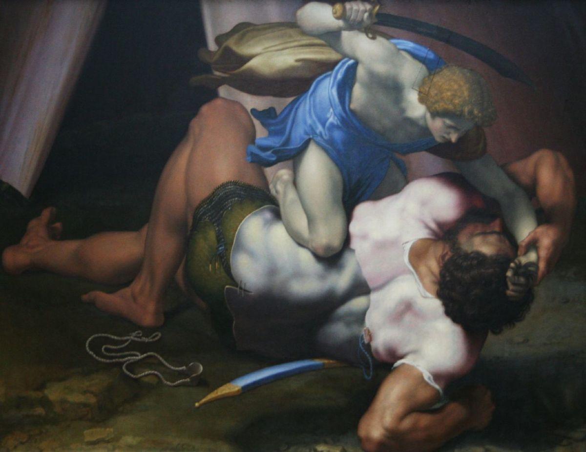 David killing Goliath
