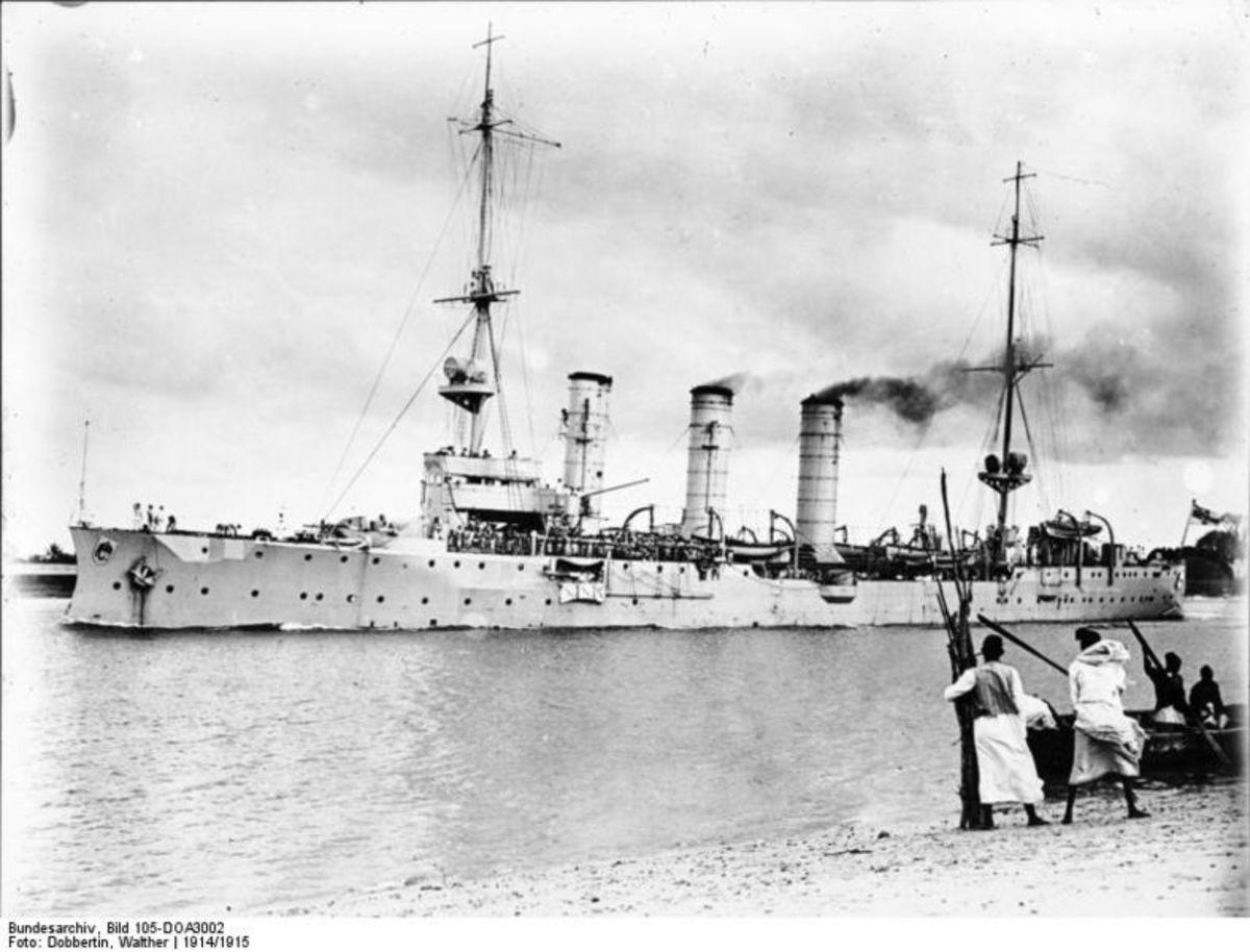 SMS Knigsberg at Dar es Salaam 1914-1915