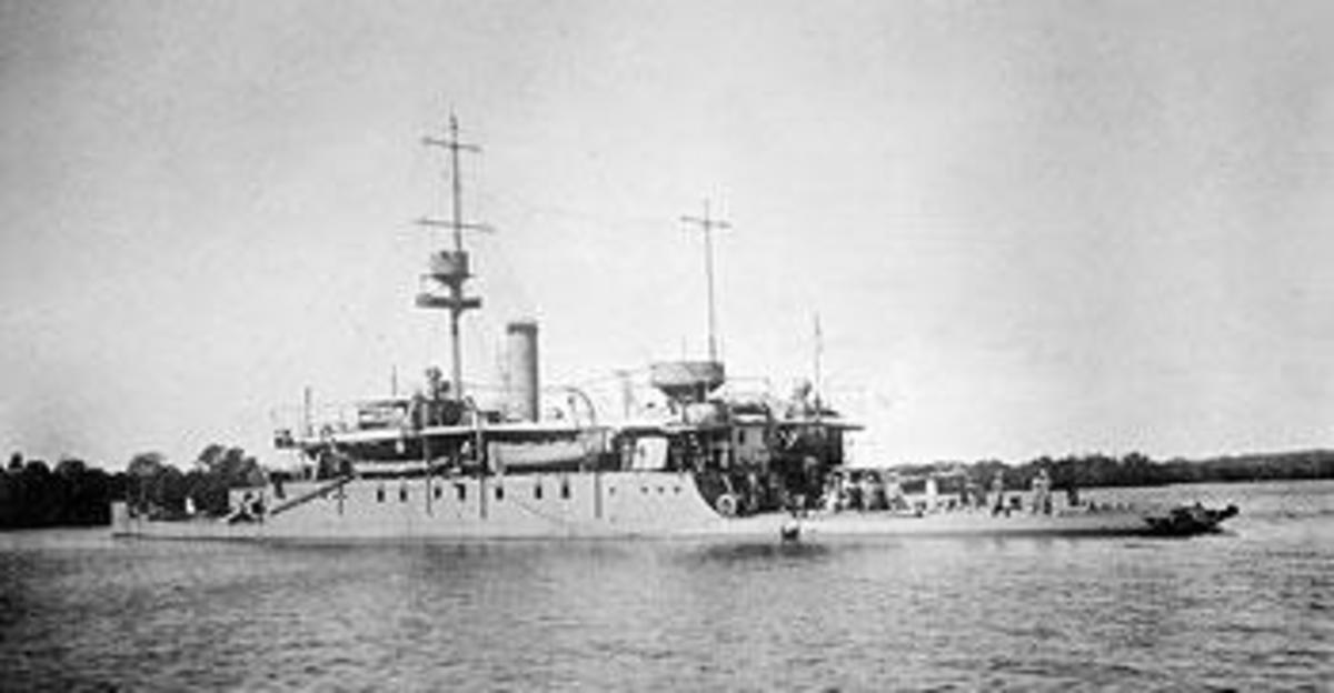 HMS Severn (monitor) taken on 3 July 1917 which ran the gauntlet of the Knigsbergs' Guns