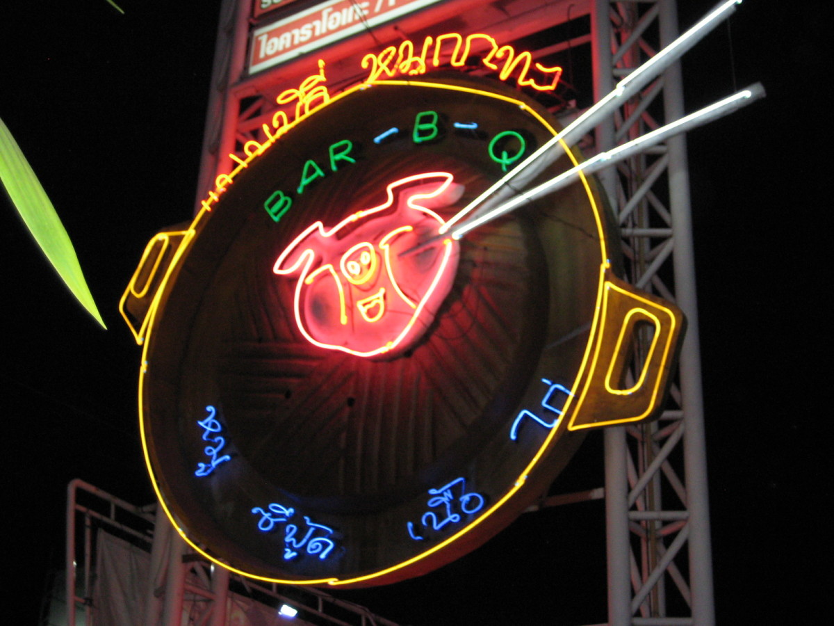 Find this neon sign and you're at Family BBQ Restaurant