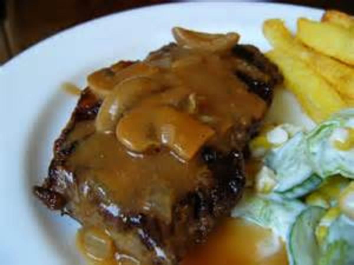 Mushroom Sauce Over Steak