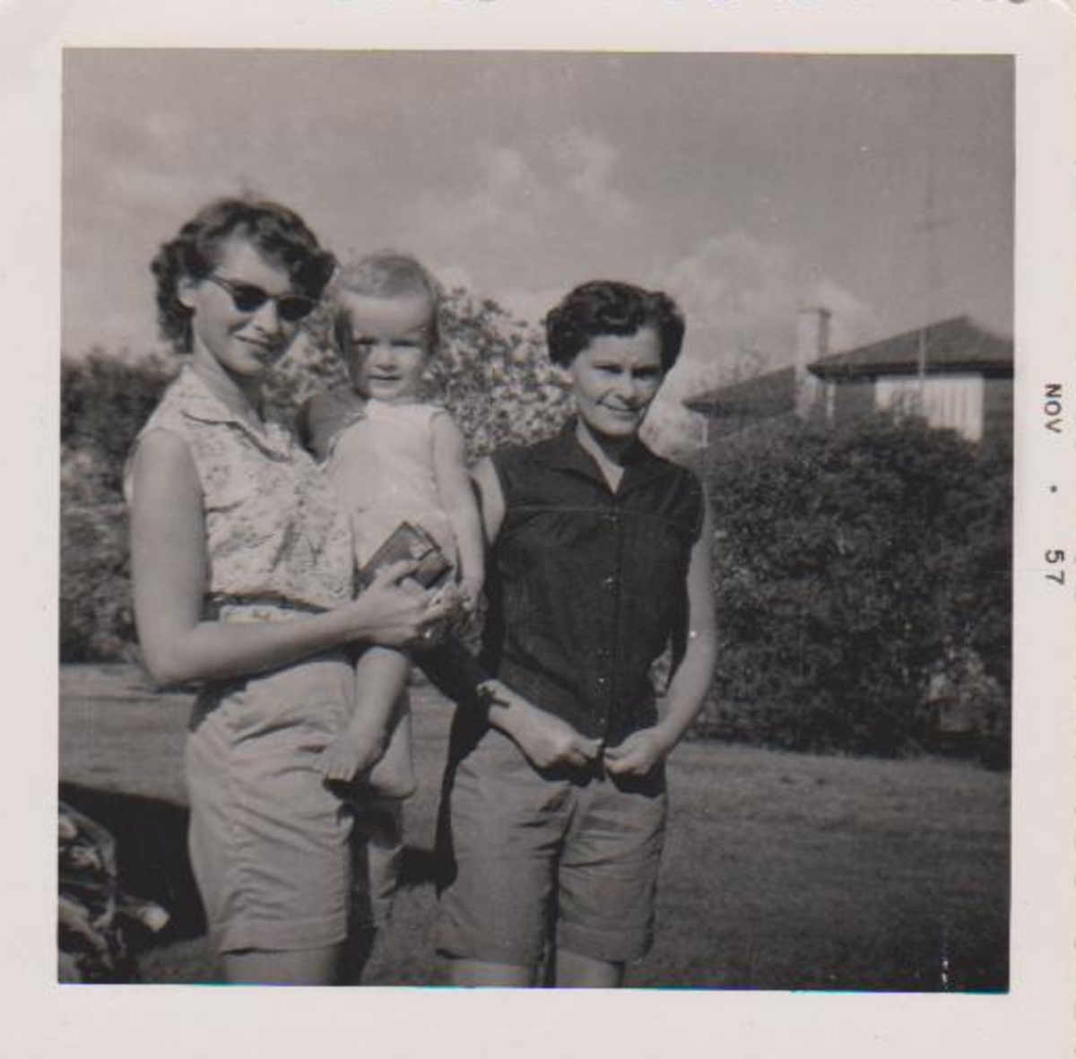 My mom, aunt and I at my grandparents