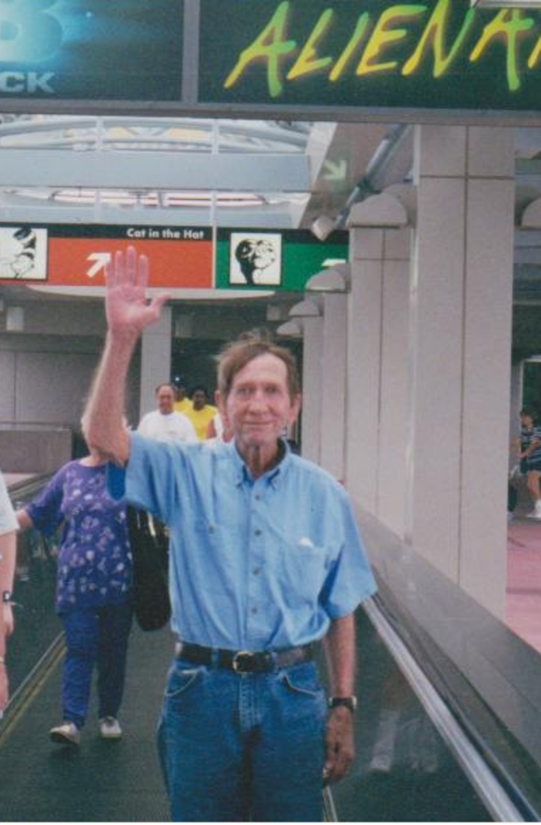 My dad and my heart at Universal Studios just a few months before he died.
