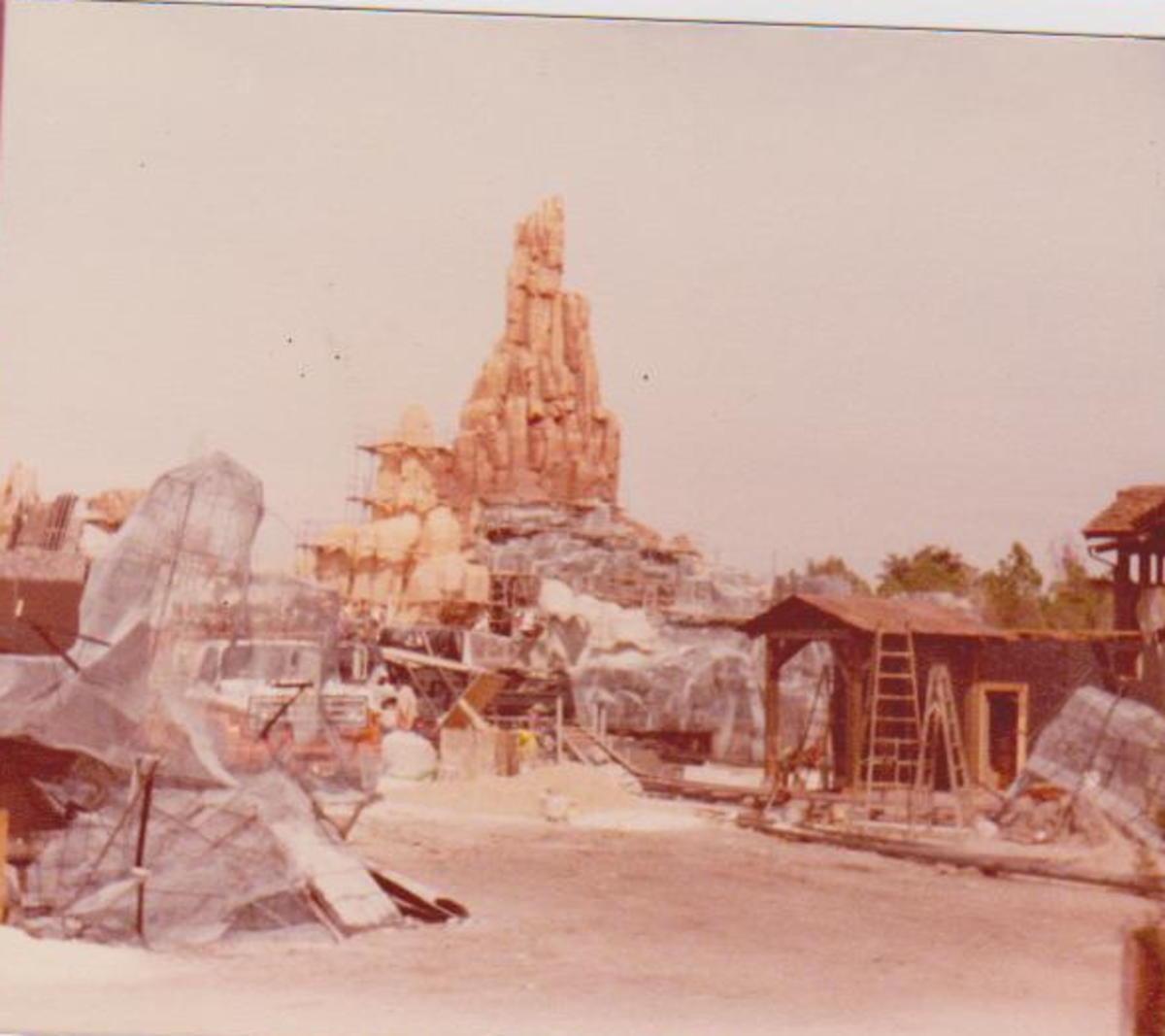 Splash Mountain before it was finished