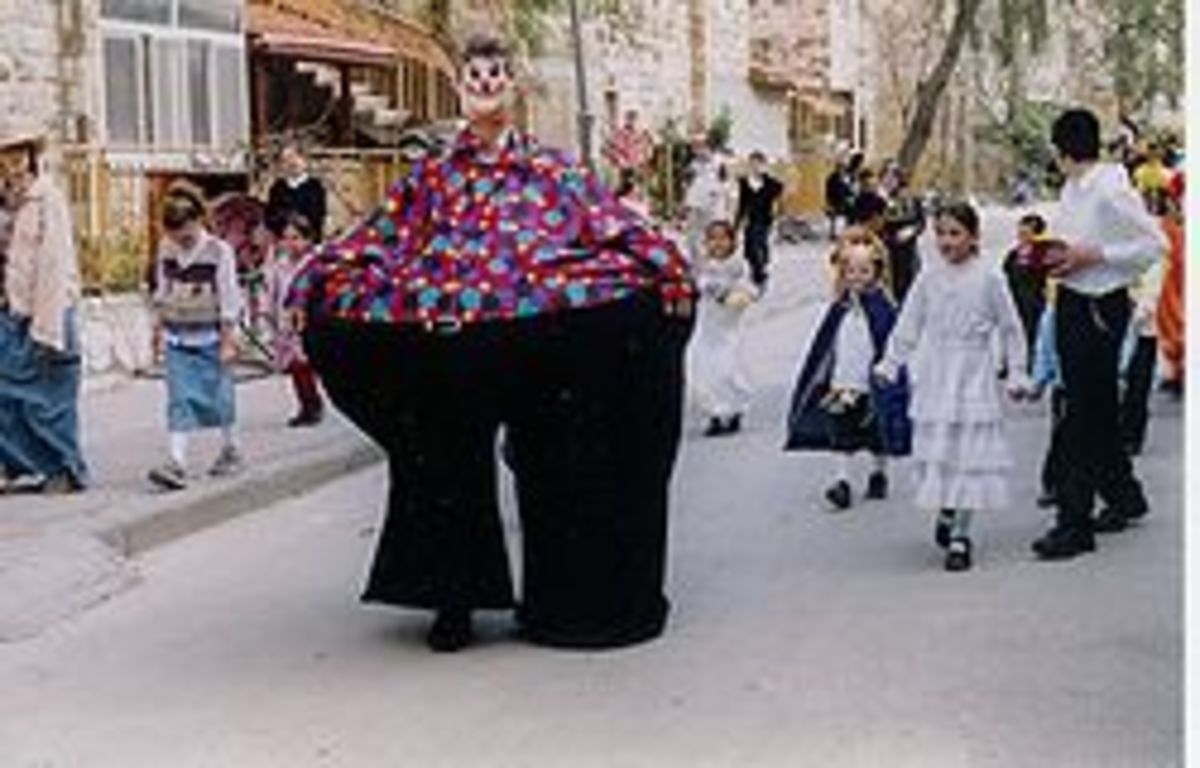 Purim celebration in Jerusalem.
