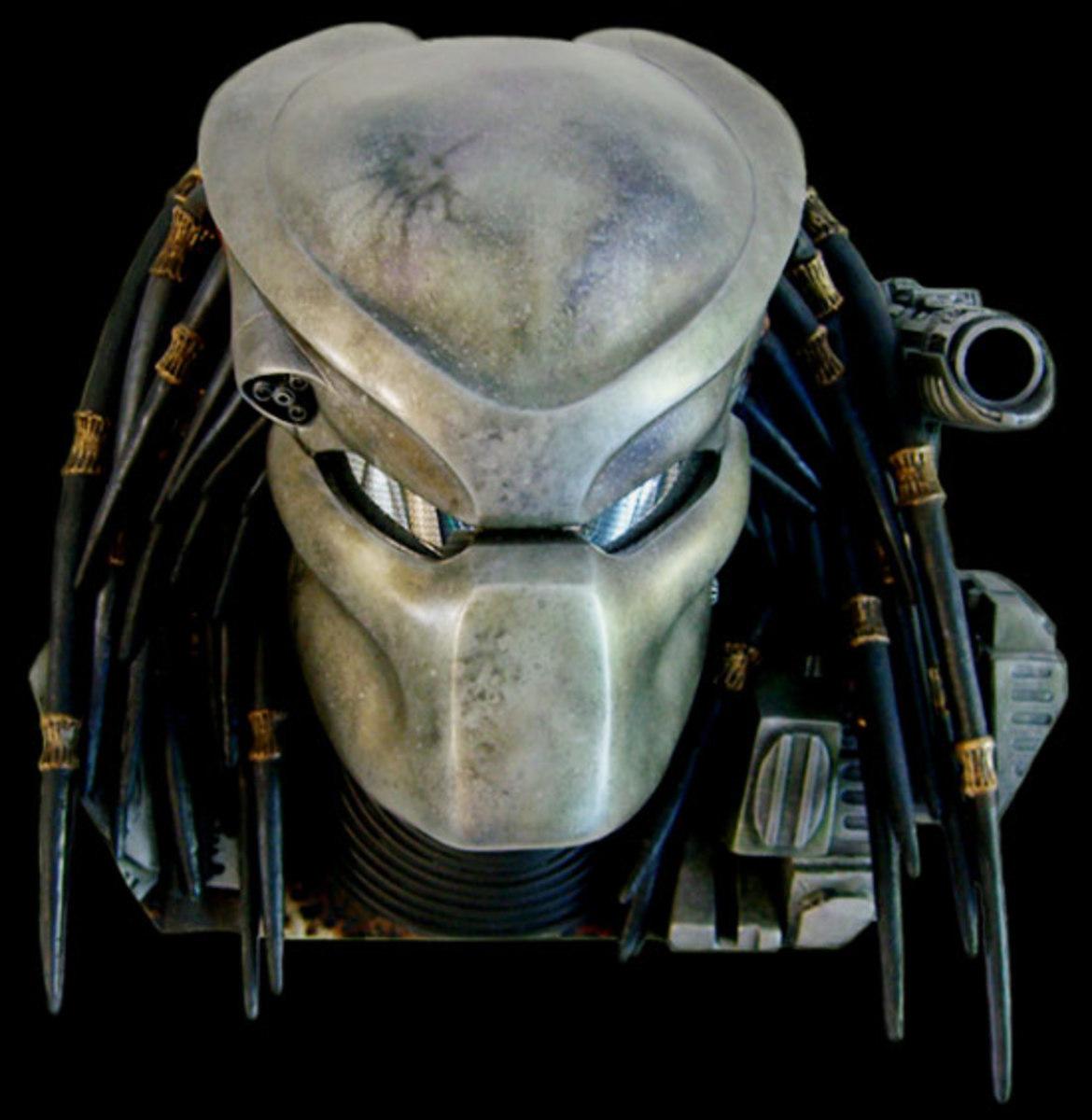 Drawing a Predator mask.