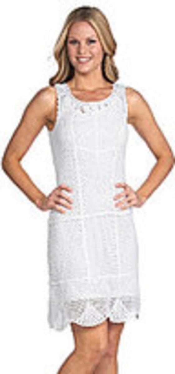 Donna Morgan Sleeveless Crochet Dress