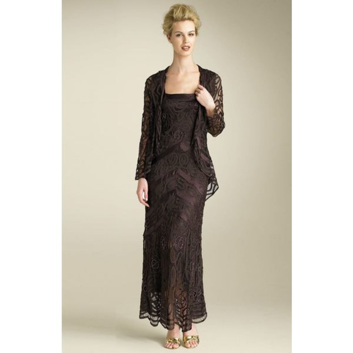 Soulmates Bead Crochet Dress & Jacket in Black