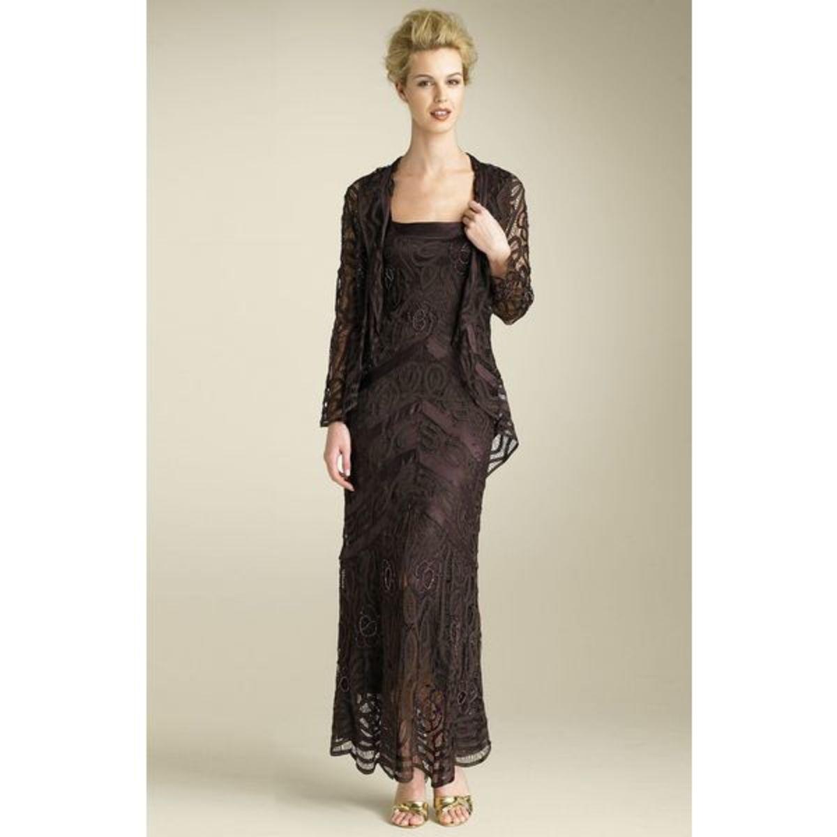 Soulmates Bead Crochet Dress & Jacket in Black