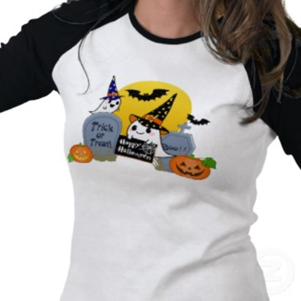 And the cutest tee for teens or the young at heart!  Trick or Treat long sleeved shirt created by kawaiiclub_apparel on Zazzle