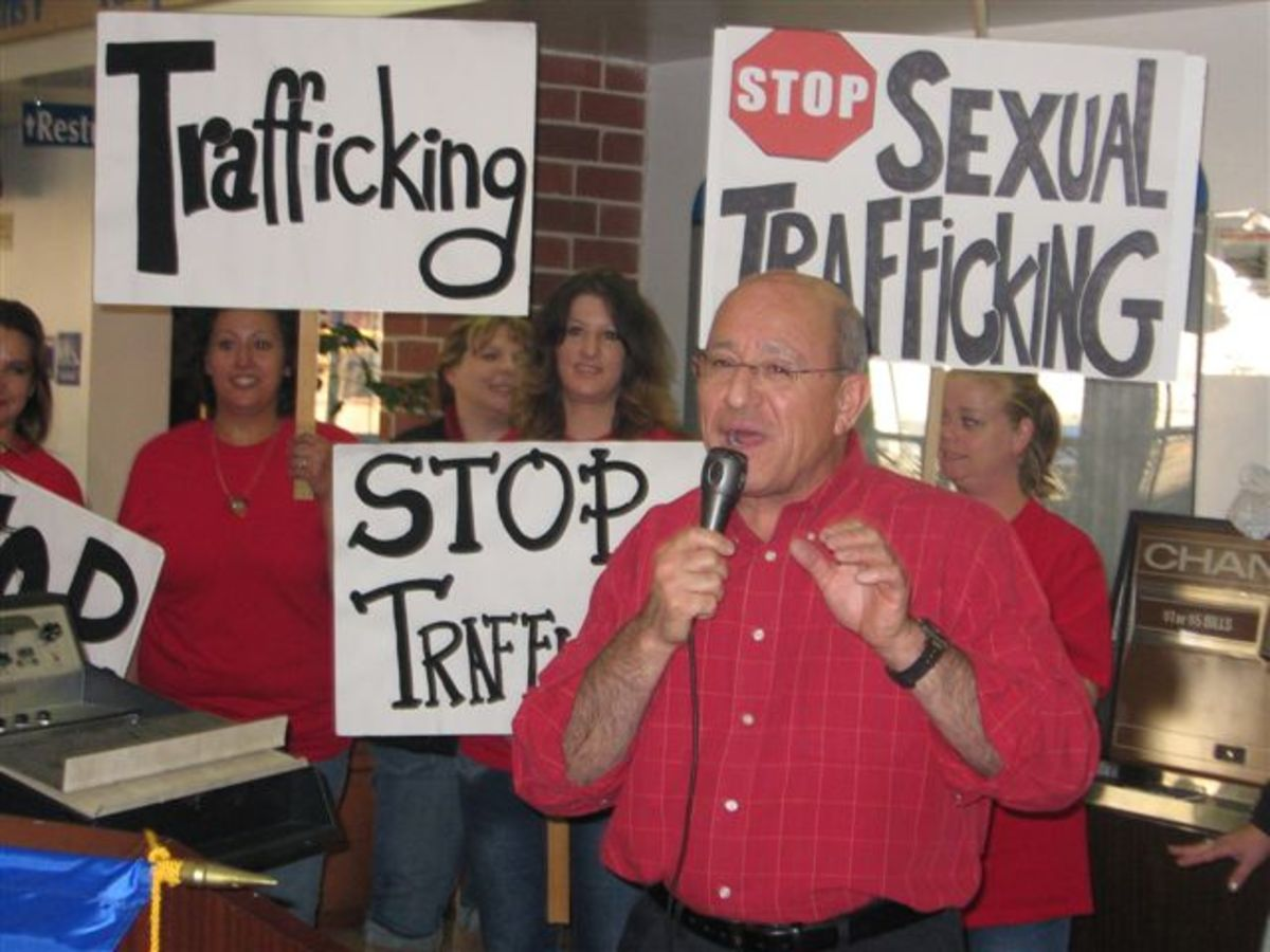 Activists take a stand against trafficking.