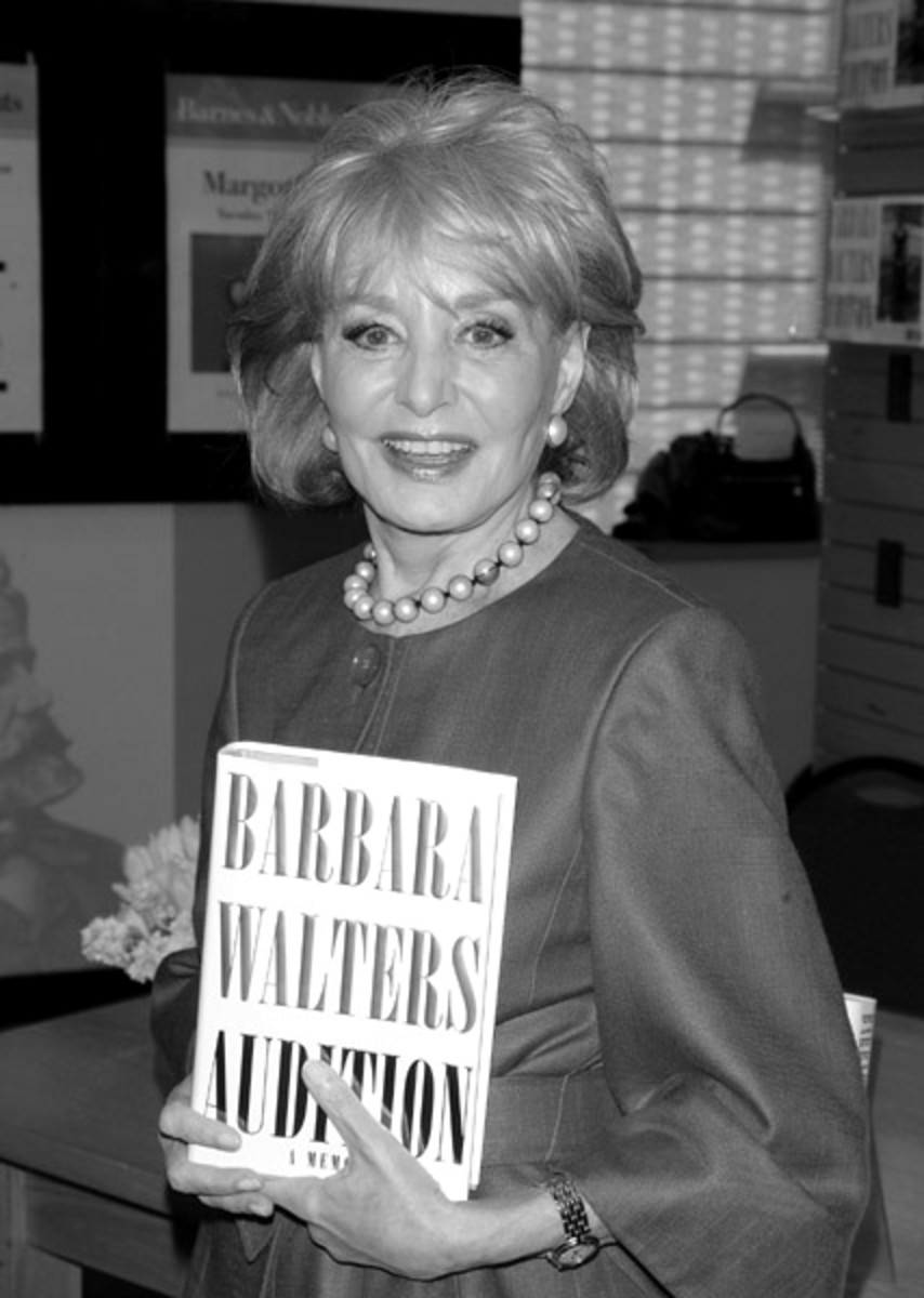 Barbara Walters looks lovely in her medium length hair style.