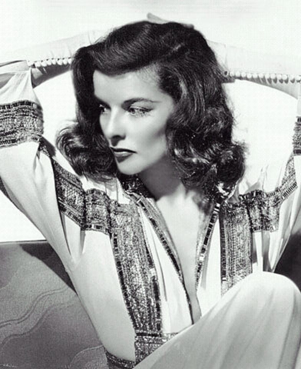 Katherine Hepburn, Hollywood glamour of yesteryears.