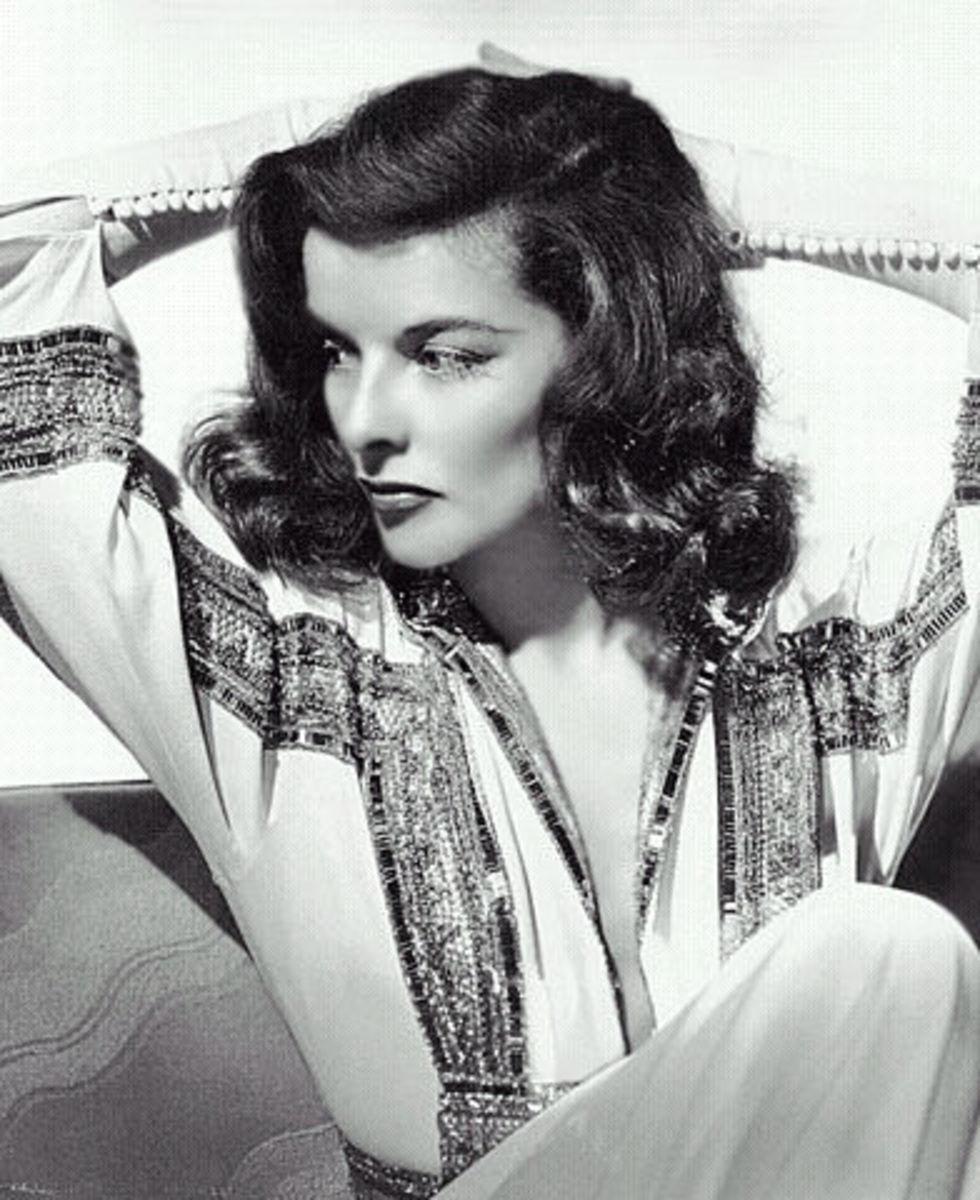 Katherine Hepburn, Hollywood glamour of yesteryears.