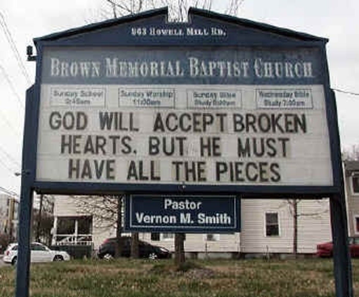 Church Sign Message