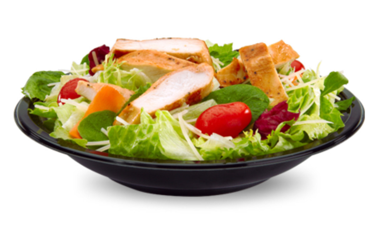 Caesar salad, possibly the best low calorie option at McDonalds