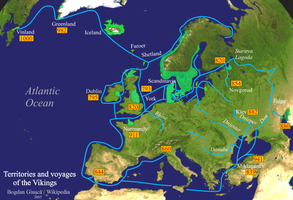 The bigger picture: Viking expansion and voyages around Europe and Middle Sea (Mediterranean)