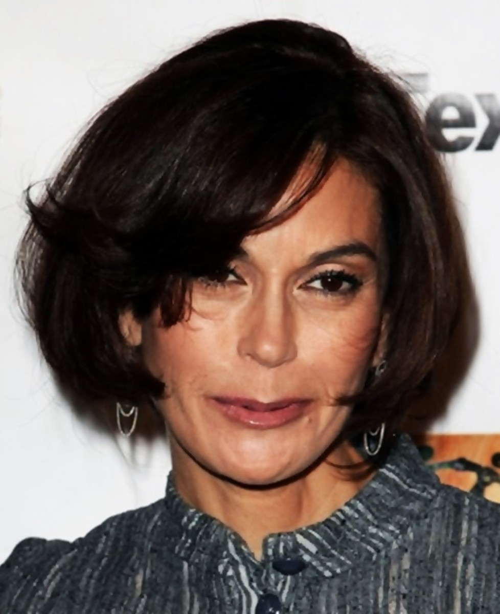 "Teri Hatcher's new medium bob hair style is called the ""flicked-fringe bouffant bob"" - Bob Hairstyles 2013 - Bob Hair Styles"