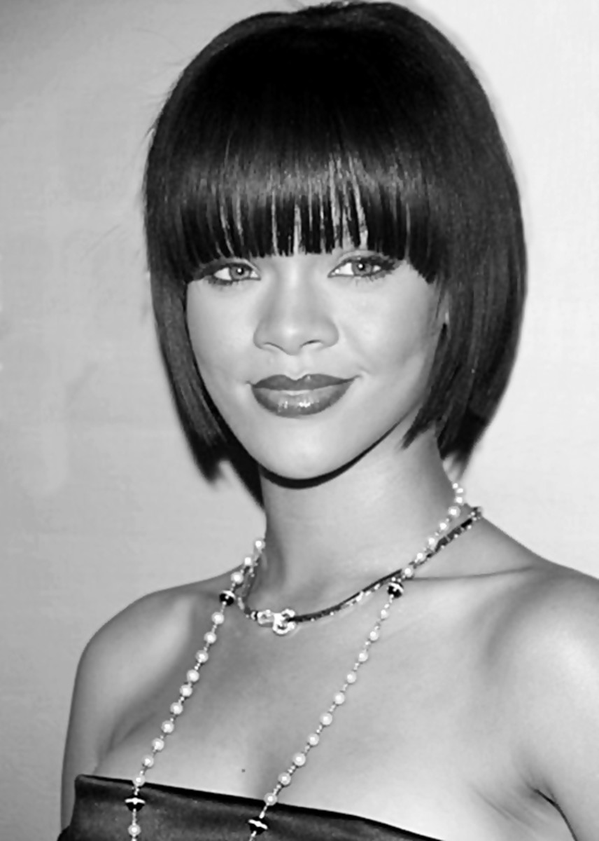 - Rihanna wearing an edgy modern day bob hairstyle - 2013 Bob Hairstyles for Women - Short, Medium, Long Hair Styles Cuts by Rosie2010 -