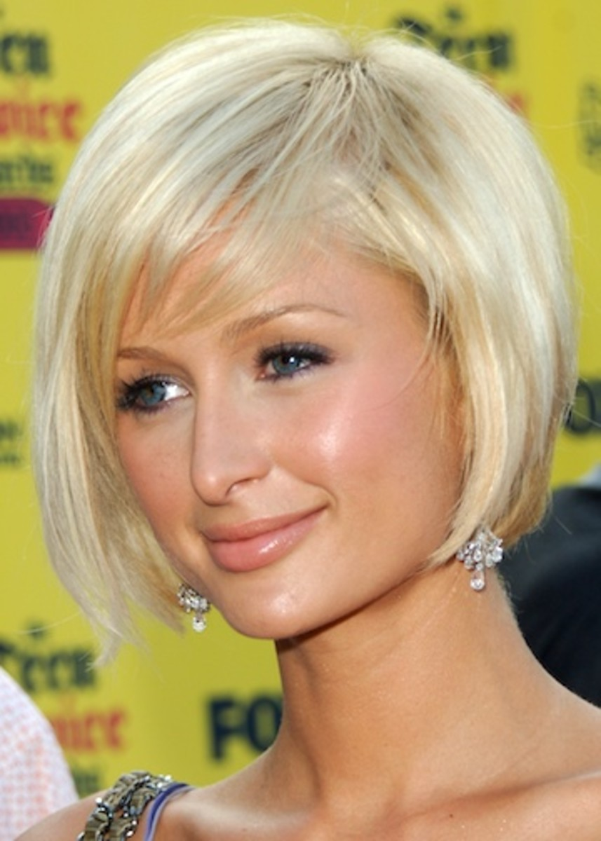 Paris Hilton's short bob hair style is very stylish yet easy to manage  - Bob Hairstyles 2013 - Bob Hair Styles