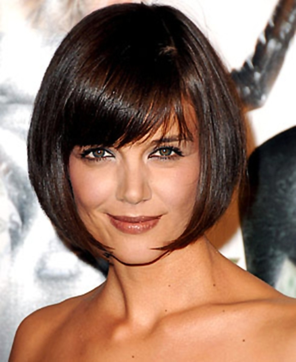 Katie Holmes' short bob hair style looks so glamorous - Bob Hairstyles 2013 - Bob Hair Styles