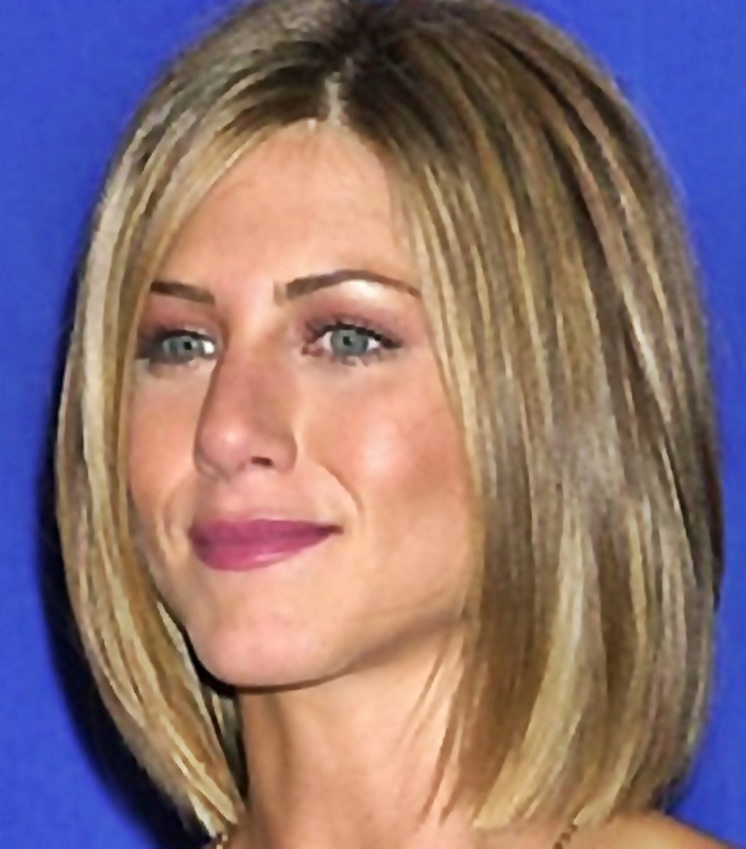 Jennifer Aniston's new bob hair style. This is bob hair style is shorter in the back which is also known as an invested bob - Bob Hairstyles 2013 - Bob Hair Styles